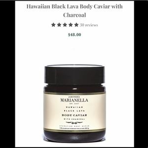 Other - Hawaiian Black lava body caviar with charcoal